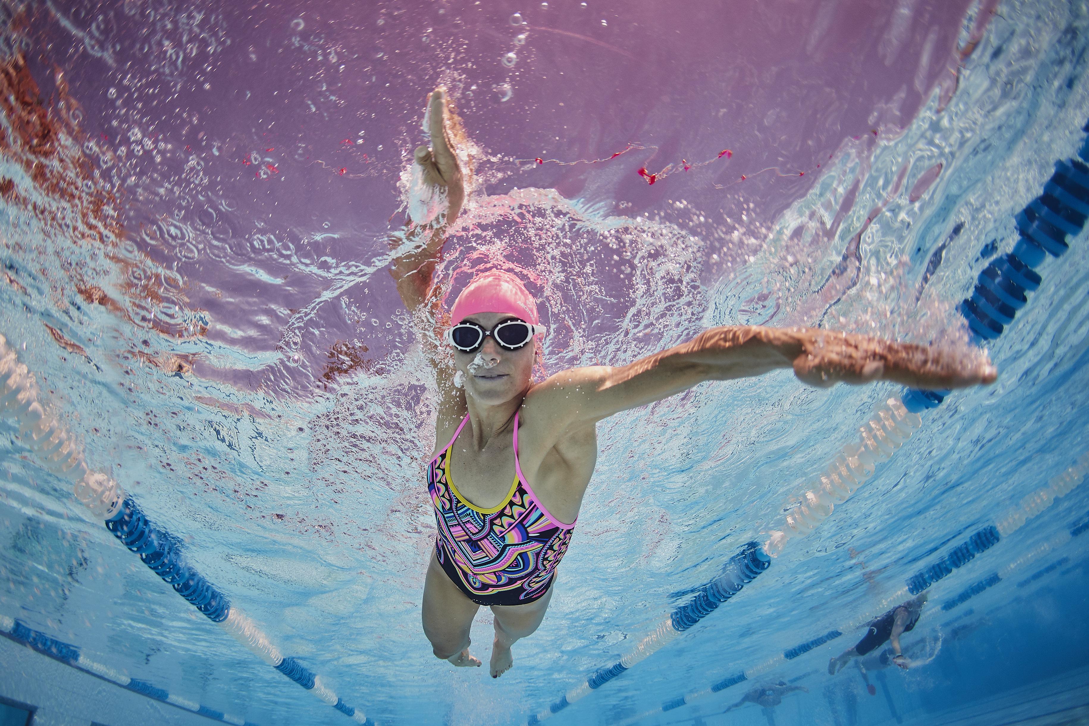 anja swimming at Playitas