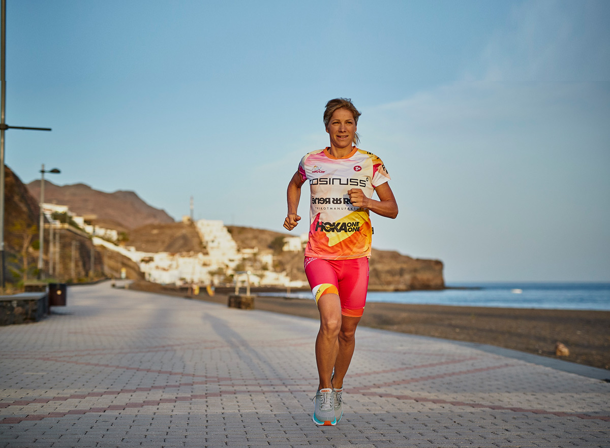 Anja Ippach Running at Playitas Resort