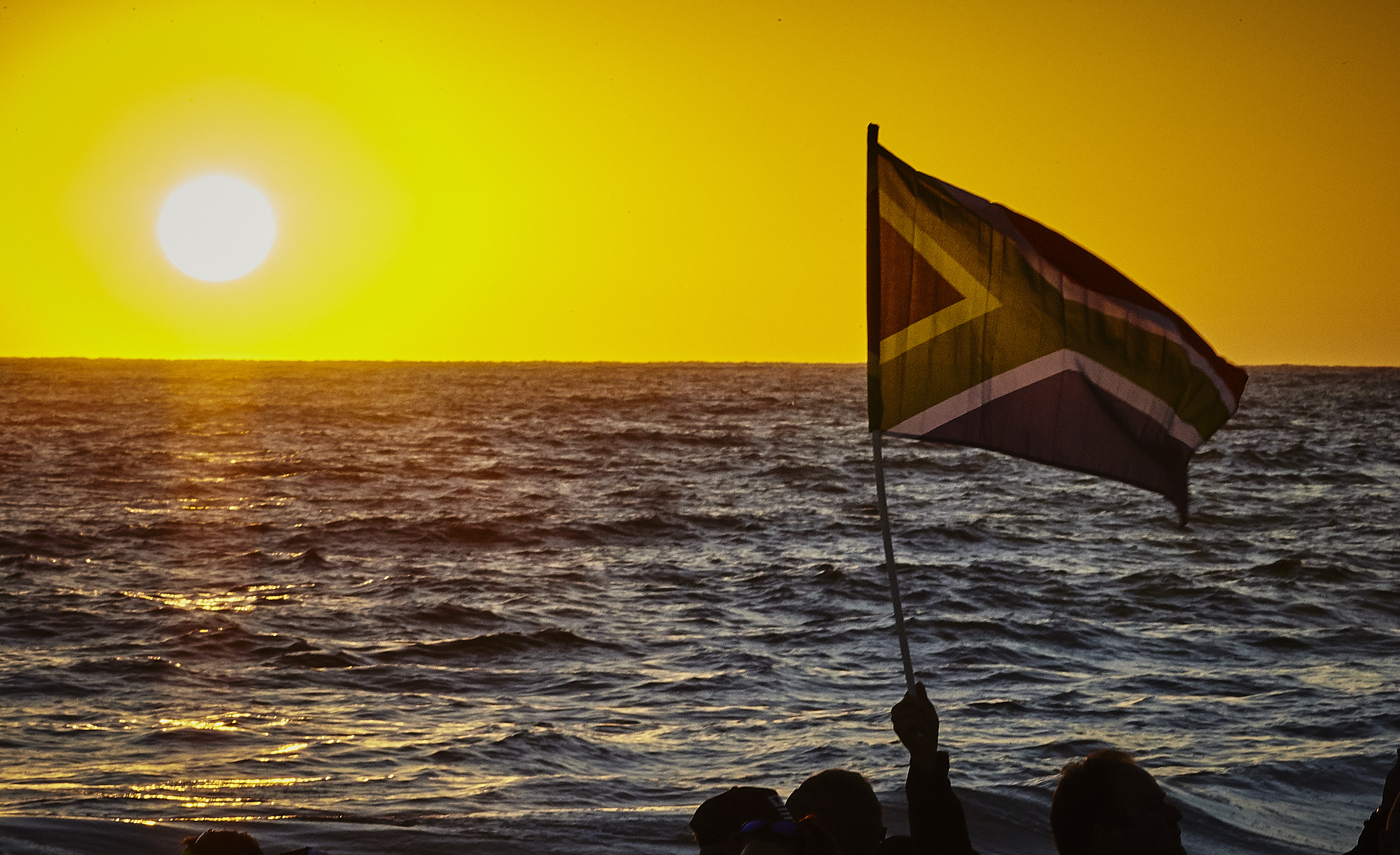 South African Sunrise at Ironman South Africa swim start
