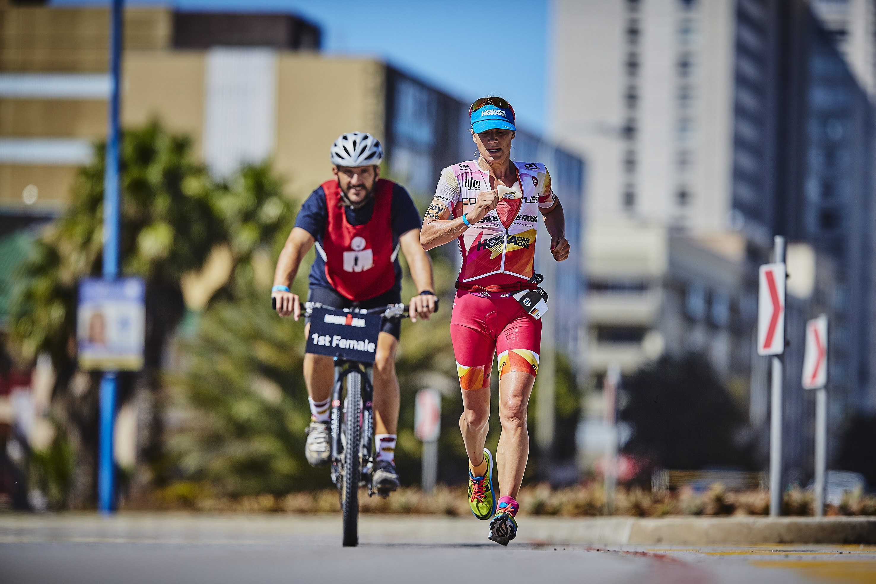 Ironman South Africa - leading the run