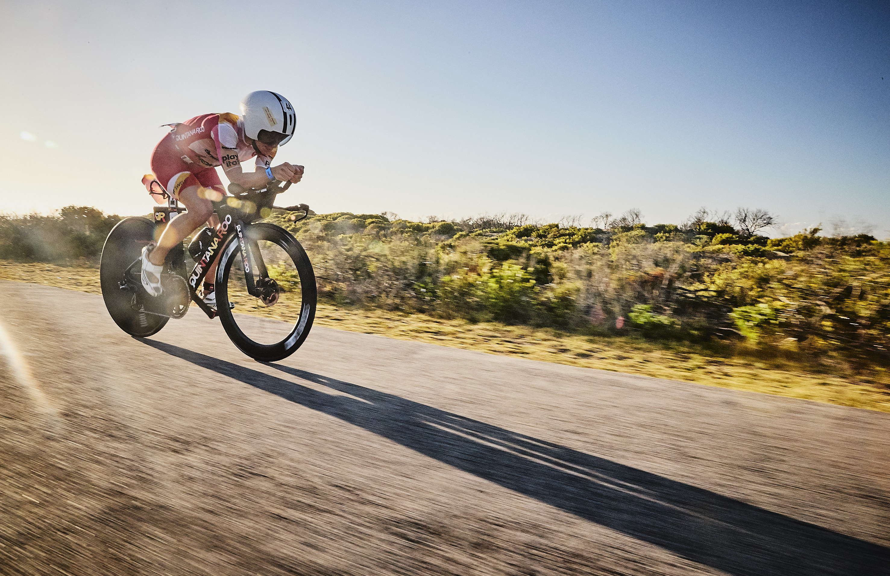 3rd out on the bike at Ironman South Africa